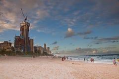 Puesta del sol de Gold Coast Foto de archivo