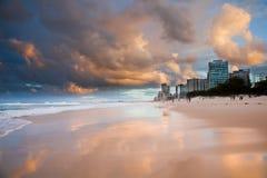 Puesta del sol de Gold Coast Imágenes de archivo libres de regalías