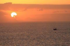 Puesta del sol de Gomera Imágenes de archivo libres de regalías