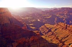 Puesta del sol de Grand Canyon fotos de archivo