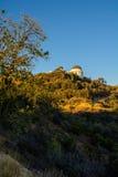 Puesta del sol de Griffith Observatory Imagen de archivo libre de regalías