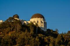 Puesta del sol de Griffith Observatory Fotos de archivo libres de regalías