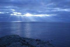 Puesta del sol de Guernesey Foto de archivo libre de regalías