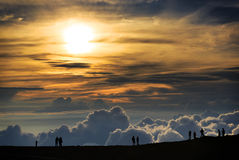 Puesta del sol de Haleakala Imagen de archivo
