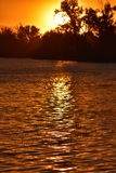 Puesta del sol de HD: Puerto de Pasco, Washington State Imagen de archivo