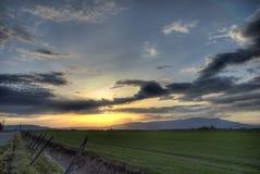 Puesta del sol de HDR foto de archivo libre de regalías