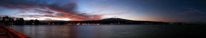 Puesta del sol de Hilo Mauna Kea Fotos de archivo libres de regalías