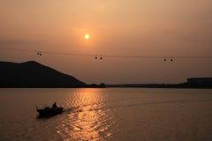 Puesta del sol de Hong-Kong Imagen de archivo