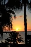 Puesta del sol de Ibiza Foto de archivo libre de regalías