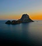 Puesta del sol de Ibiza Imagenes de archivo