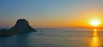 Puesta del sol de Ibiza Fotos de archivo libres de regalías
