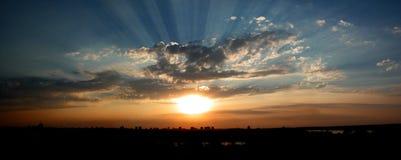 Puesta del sol de Kalemegdan Fotos de archivo libres de regalías