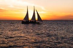 Puesta del sol de Key West Foto de archivo libre de regalías