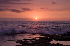 Puesta del sol de Kona imagen de archivo libre de regalías