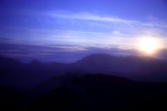 Puesta del sol de Krafla Imagen de archivo