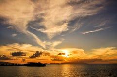 Puesta del sol de Kusadasi Fotos de archivo