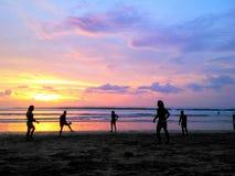 Puesta del sol de Kuta Fotografía de archivo libre de regalías
