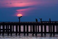 Puesta del sol de la actividad Fotografía de archivo libre de regalías