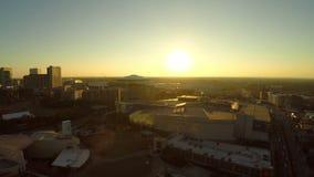 Puesta del sol de la antena de Atlanta almacen de metraje de vídeo