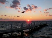 Puesta del sol de la bahía de Chesapeake Fotos de archivo