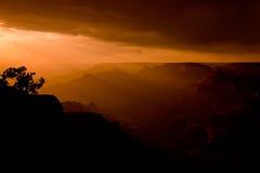 Puesta del sol de la barranca magnífica Imagen de archivo