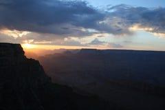 Puesta del sol de la barranca magnífica Foto de archivo