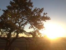 Puesta del sol de la barranca magnífica Imagen de archivo libre de regalías