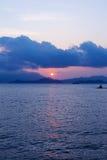 Puesta del sol de la belleza Fotografía de archivo libre de regalías