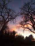 Puesta del sol de la caída Imagen de archivo libre de regalías