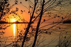 Puesta del sol de la caída de la bahía georgiana fotos de archivo libres de regalías
