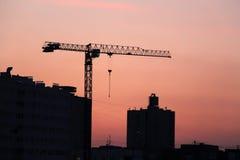 Puesta del sol de la ciudad imagen de archivo libre de regalías