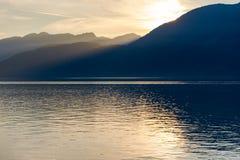 Puesta del sol de la Columbia Británica Fotografía de archivo libre de regalías