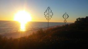 Puesta del sol de la costa costa de la playa Imagen de archivo