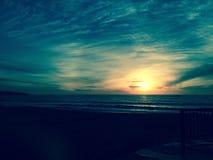 Puesta del sol de la costa oeste Fotografía de archivo