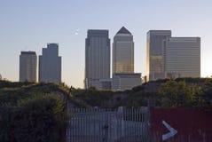 Puesta del sol de la crisis financiera Fotografía de archivo libre de regalías