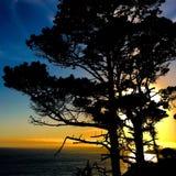 Puesta del sol de la ensenada del océano Fotografía de archivo libre de regalías