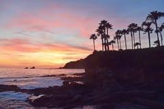 Puesta del sol de la ensenada del pescador Foto de archivo libre de regalías