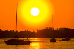 Puesta del sol de la Florida Fotos de archivo