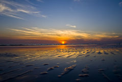 Puesta del sol de la Florida Imagen de archivo