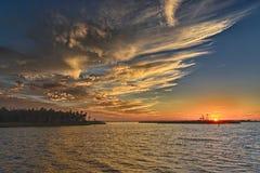 Puesta del sol de la Florida Fotografía de archivo