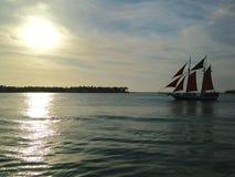 Puesta del sol de la Florida Key West de Mallory Square 3 fotografía de archivo