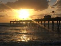 Puesta del sol 1 de la Florida fotos de archivo libres de regalías