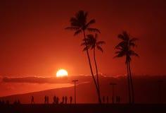 Puesta del sol de la isla imagen de archivo libre de regalías