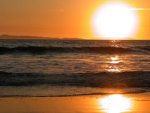 Puesta del sol de la isla de Catalina - California Foto de archivo libre de regalías