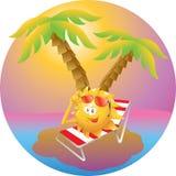 Puesta del sol de la isla de las vacaciones Fotografía de archivo libre de regalías