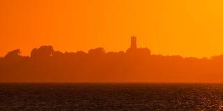 Puesta del sol de la isla del Herm Fotos de archivo