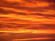 Puesta del sol de la mandarina Imágenes de archivo libres de regalías
