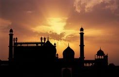 Puesta del sol de la mezquita Fotos de archivo