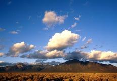 Puesta del sol de la montaña de Taos foto de archivo libre de regalías