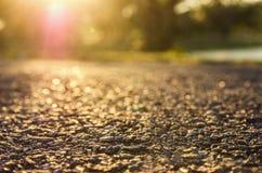 Puesta del sol de la naturaleza de la belleza Imagenes de archivo